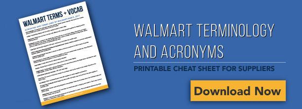 Walmart Terminology